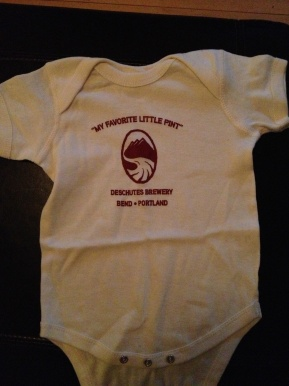 A huge thank you to Gina Schauland, Social Media Coordinator at Deschutes Brewery, for sending Baby Murphy's first outfit!